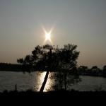 fond ecran 090429 coucher soleil lac hostens