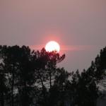 fond ecran 090503 coucher soleil lac hostens